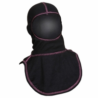 Majestic Fire Pink High Visibility Stitching Black PAC II Hood - C6