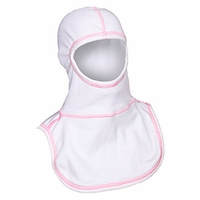 Majestic Fire Pink High Visibility Stitching White PAC II Hood - 100% NOMEX