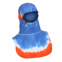 Majestic Fire Tie-Dye Orange & Blue PAC II Hood