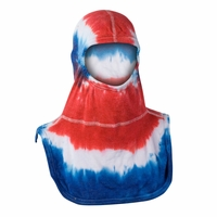 Majestic Fire Tie-Dye Red White & Blue PAC II Hood