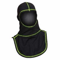 Majestic Fire Yellow High Visibility Stitching Black PAC II Hood - C6