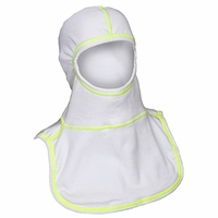 Majestic Fire Yellow High Visibility Stitching White PAC II Hood - 100% NOMEX