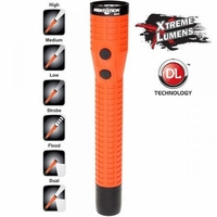 NightStick Polymer Multi-Function Duty/Personal-Size Dual-Light Flashlight w/Magnet - Rechargeable RED