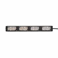 **OPEN BOX** EL3H04A00D UltraLITE 4 Module Interior LED Lightbar w/ Universal L-Brackets & 14 ft cable - Red/White