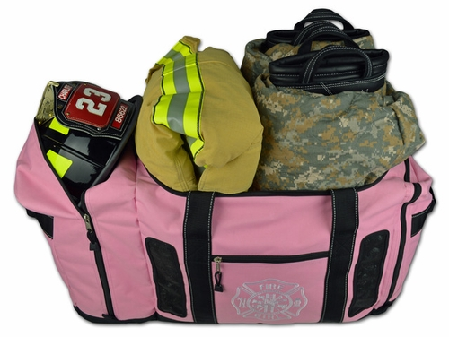 Pink Deluxe Firefighter Gear Bag Vented