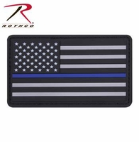 PVC Thin Blue Line Flag Patch