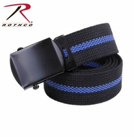 "Rothco 44"" Thin Blue Line Web Belt"