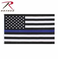 RTH-14455 Rothco Thin Blue Line Flag