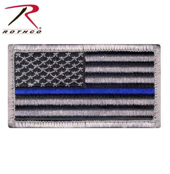 RTH-17789 Thin Blue Line Police U.S. Flag Patch
