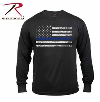 RTH-3925 Rothco Long Sleeve Thin Blue Line T-Shirt