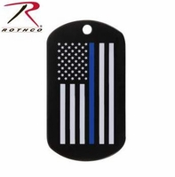 RTH-8513 Rothco Thin Blue Line Dog Tag