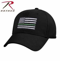 RTH-9556 Rothco Thin Green Line Flag Low Pro Cap