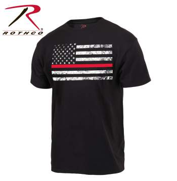 RTH-9950 Rothco Firefighter Thin Red Line Flag T-Shirt