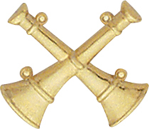 Smith And Warren Collar Brass Insignia -  2 X BUGLES PAIR