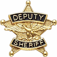 Smith And Warren Collar Brass Insignia -  5 POINT STAR/DEPUTY SHERIFF  EACH