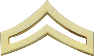 Smith And Warren Collar Brass Insignia -  CPL CHEVRON MEDIUM PAIR
