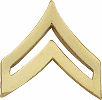 Smith And Warren Collar Brass Insignia -  CPL CHEVRON SMALL PAIR