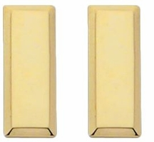 Smith And Warren Collar Brass Insignia -  LT/LARGE/SMOOTH PAIR