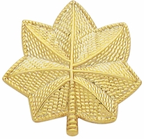 Smith And Warren Collar Brass Insignia -  OAK LEAF LARGE PAIR