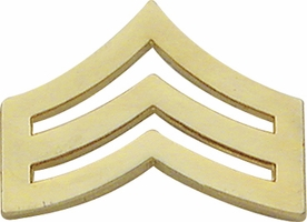 Smith And Warren Collar Brass Insignia -  SGT CHEVRON LARGE PAIR