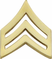 Smith And Warren Collar Brass Insignia -  SGT CHEVRON SMALL PAIR