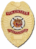 Smith & Warren Badge Company Volunteer Firefighter Badge