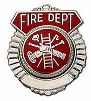 Smith & Warren Badge Tie Tac w/ Firefighter Scramble