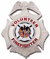 Smith & Warren Sunburst Volunteer Firefighter Stock Badge
