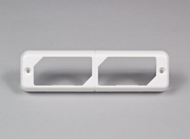 SoundOff Bezel, Dual Side-by-Side for  LED3 Mini Lights - White