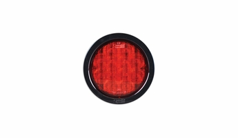SoundOff Signal 4 Inch  Round 12 LED Light - Stop, Tail, and Turn-Red