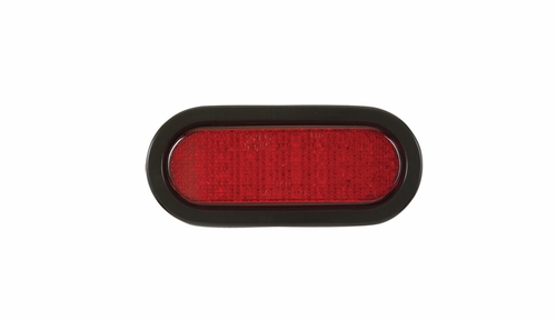 SoundOff Signal 6 inch Oval Stop,Tail, and Park Lights-Red/Grommet-ECVO62STT