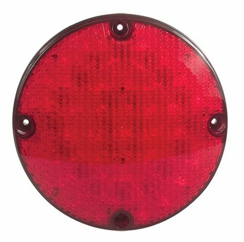 SoundOff Signal 756 Premium 7 inch Round Stop, Tail, Turn - Red Lens/Red LEDs-ECV7561STT-FA