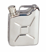 Stainless Steel Jerry Can Flask - 6 oz.