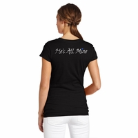 Thin Blue Line Womens Hes Mine Shirt
