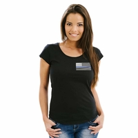 Thin Blue Line Womens Original Flag Shirt
