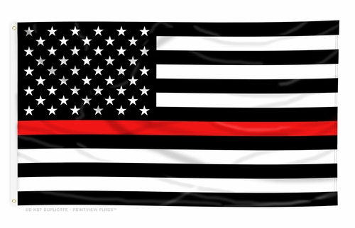 Thin Red Line American Flag- 3 x 5 Ft