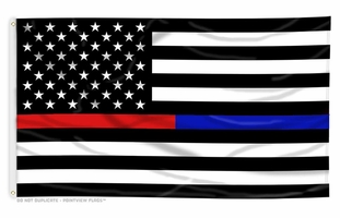 Thin Red Line & Thin Blue Line Dual Flag - 3 x 5 Foot Flag with Grommets