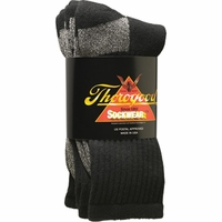 Thorogood 888-1008 American Made Postal Certified Black Socks Coolmax