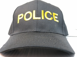 Twill Cap - Black - Gold Letters - POLICE