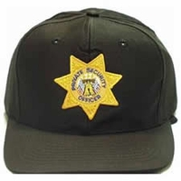 Twill Hat With Gold Private Security Officer Star Badge
