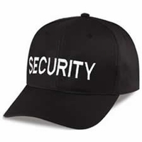 Twill Hat With Security Embroidery
