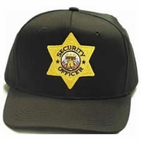 Twill Hat With Security Officer Star Badge