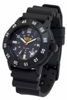 UZI Protector Watch - Black Face - Rubber Strap