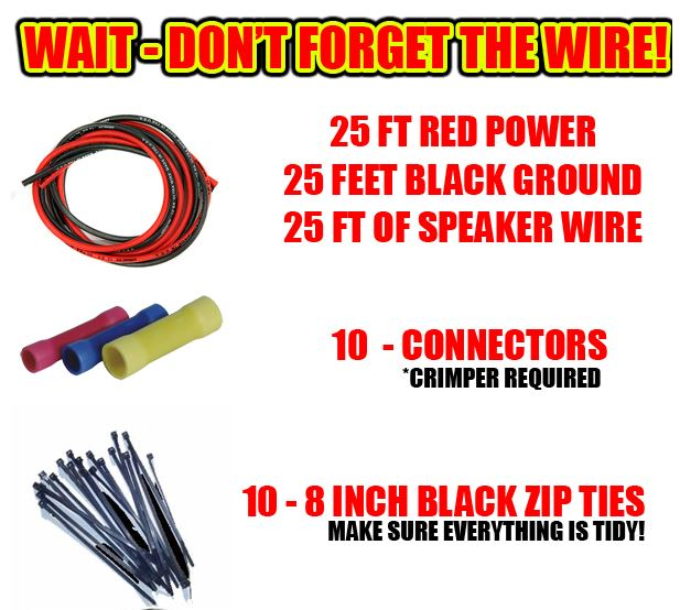 wire hookup kit for all carson sirens 3 carson sirens police sirens siren speaker combo electronic