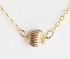 14k Gold Filled Ribbed Ball Necklace