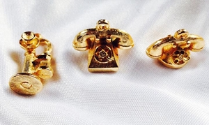 3 of the 6 Telephone Charms for 1964 Awards Bracelet