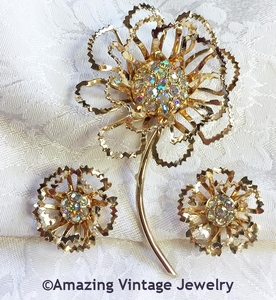 ALLUSION Pin & Earrings Set