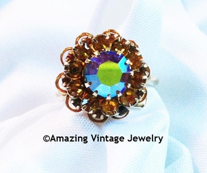 Amber AB Cluster Ring - Canada