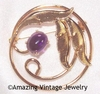 AMETHYST OVAL Pin