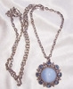 AVON Blue Moonstone/Rhinestone Necklace
